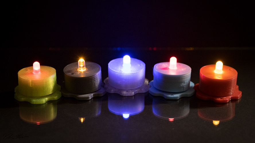 Led Tealight 3D Print 135783