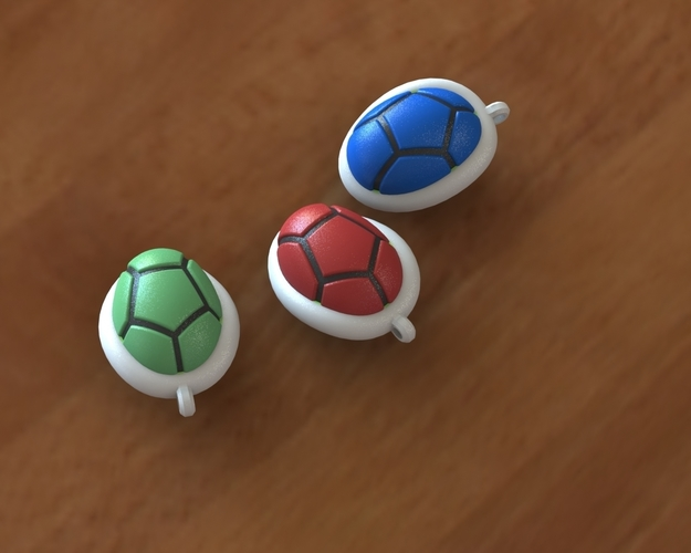 Turtle shell keychain 3D Print 135811