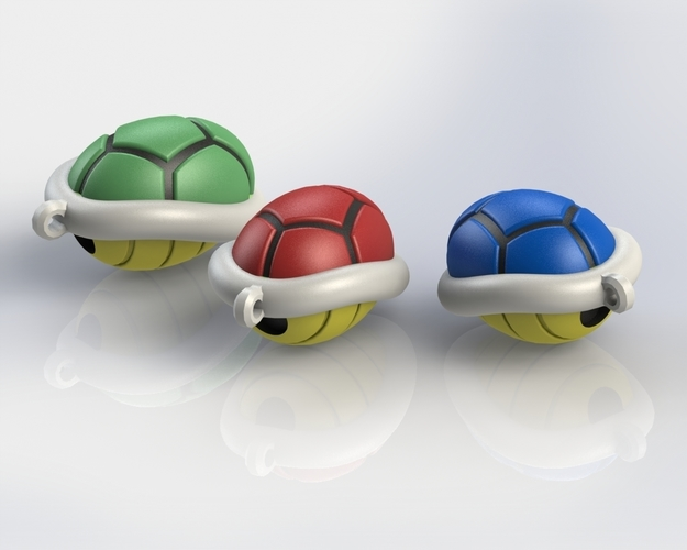 Turtle shell keychain 3D Print 135814