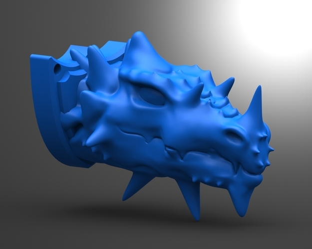 Dragon head 3D Print 135830