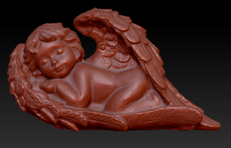 Angel sleeping in wings 3D Print 135851