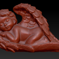 Small Angel sleeping in wings 3D Printing 135851