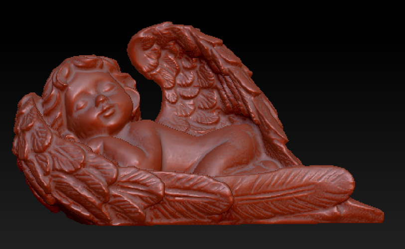 Angel sleeping in wings 3D Print 135853