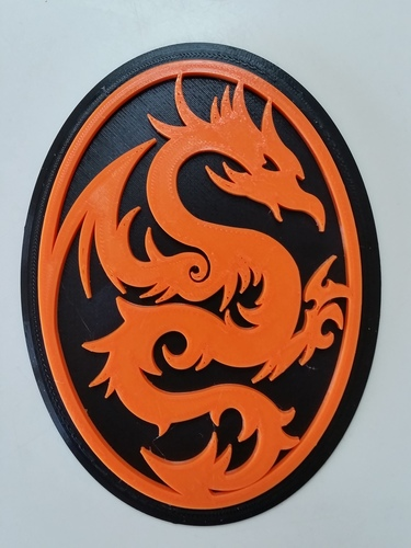 Dragon Wall Art 3D Print 135891
