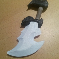 Small God Of War blade 3D Printing 135903