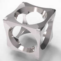 Small cubic mensring 3 in 1 3D Printing 135957