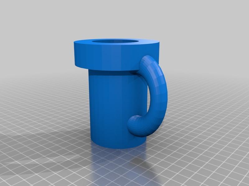 3D Printed super mario pipe mug by NeoQueenSarenity  c461f686d0