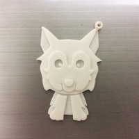Small Husky Key chain 3D Printing 135968