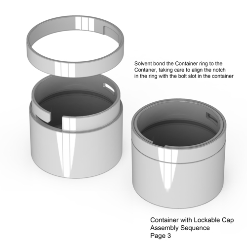 Lockable Container 3D Print 136016