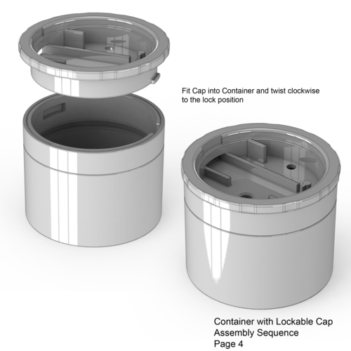 Lockable Container 3D Print 136017