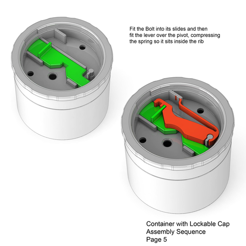 Lockable Container 3D Print 136018
