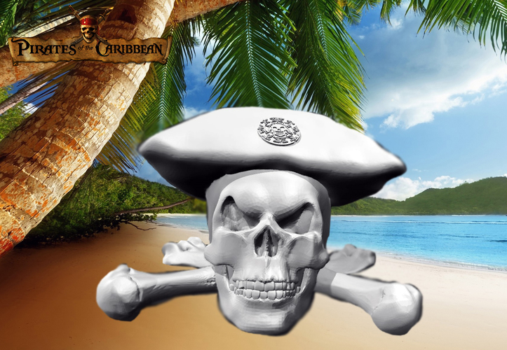Pirates of the Caribbean - Skull 3D Print 136035