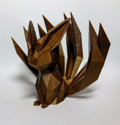 Low-poly Nine-tailed Fox 3D Print 136040