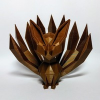 Small Low-poly Nine-tailed Fox 3D Printing 136043