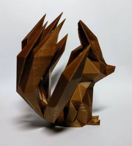 Low-poly Nine-tailed Fox 3D Print 136044