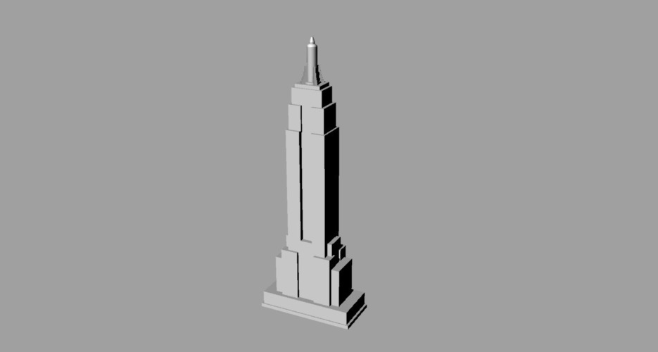 Empire State Building 3D Print 136047