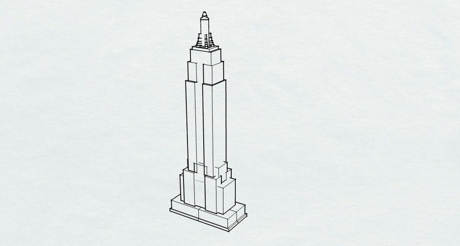 Empire State Building 3D Print 136050