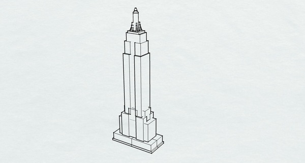 Medium Empire State Building 3D Printing 136050