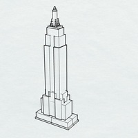 Small Empire State Building 3D Printing 136050