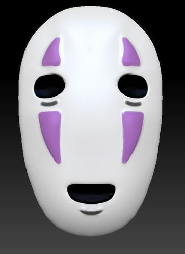 No-Face Mask from SpiritedAway (Wearable if Modified) 3D Print 136071