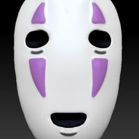 Small No-Face Mask from SpiritedAway (Wearable if Modified) 3D Printing 136071