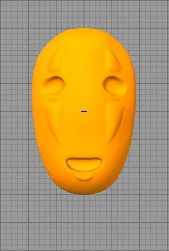 No-Face Mask from SpiritedAway (Wearable if Modified) 3D Print 136072