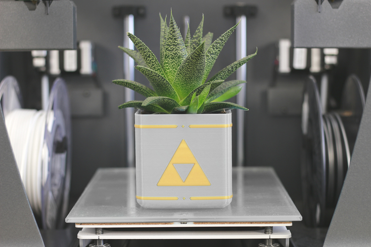 Zelda Planter - Single / Dual Extrusion Minimal Planter 3D Print 136175