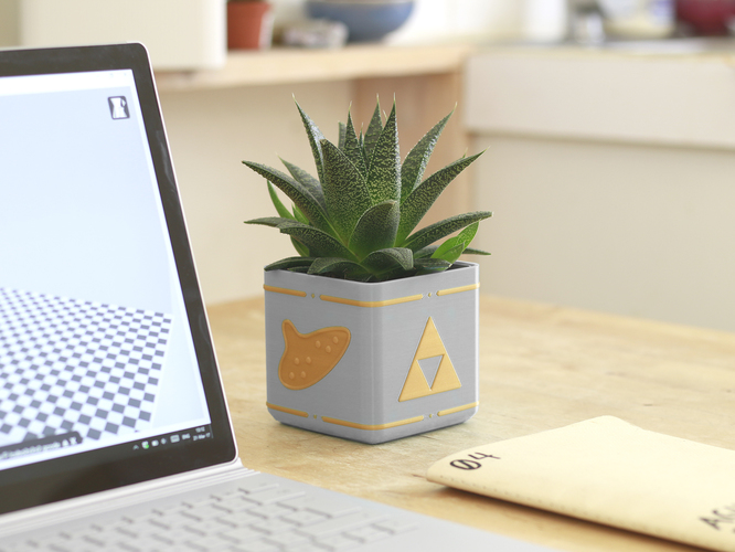 Zelda Planter - Single / Dual Extrusion Minimal Planter 3D Print 136177