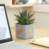 Small Zelda Planter - Single / Dual Extrusion Minimal Planter 3D Printing 136177