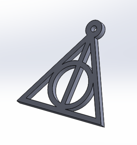 Harry Potter Keychain (Deathly Hallows) 3D Print 136178