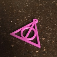 Small Harry Potter Keychain (Deathly Hallows) 3D Printing 136179