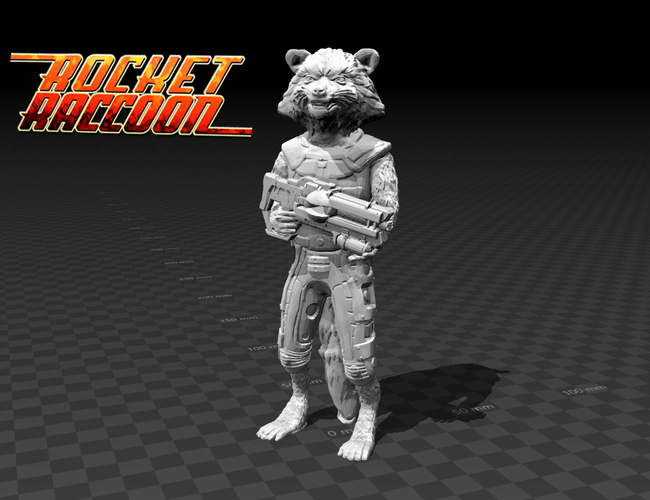 Rocket Raccoon - Guardians of the Galaxy 3D Print 136182