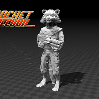 Small Rocket Raccoon - Guardians of the Galaxy 3D Printing 136182