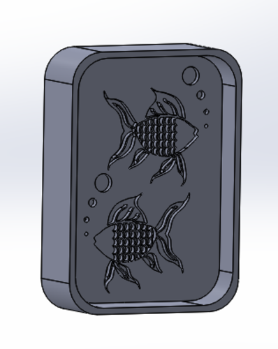 Fish Soap Coaster 3D Print 136274