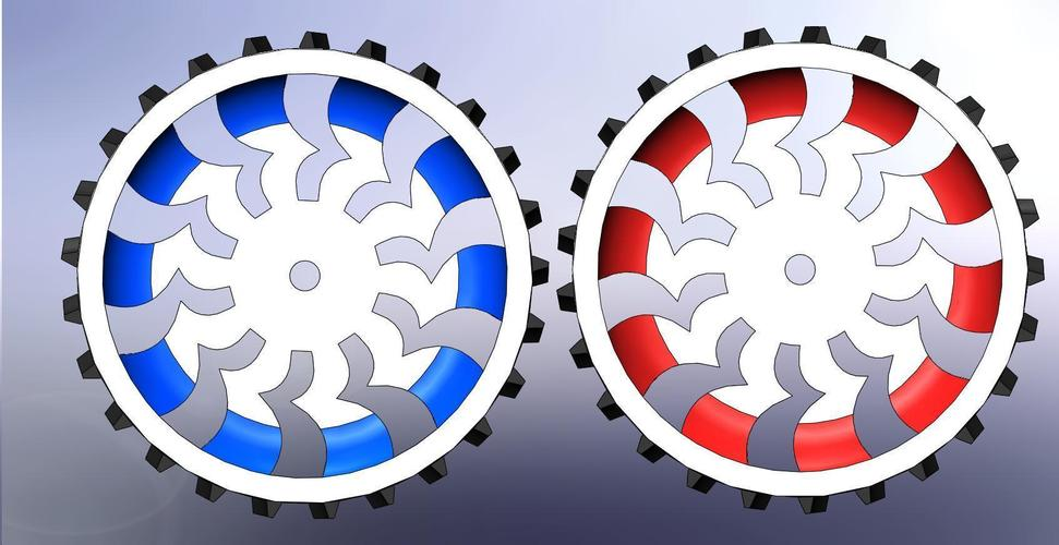 Pair L/R Rover Wheels 3D Print 136279