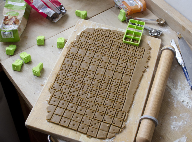 Domino Cookie Cutter 2 3D Print 136294