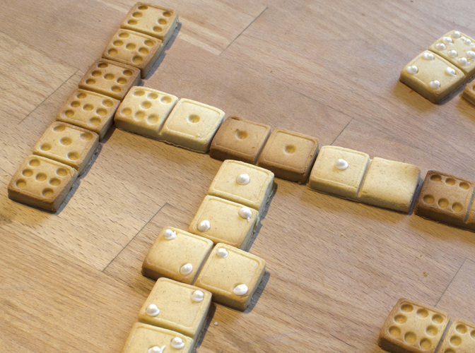 Domino Cookie Cutter 2 3D Print 136296