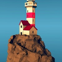 Small Lighthouse on a rock, low-poly edition 3D Printing 136322