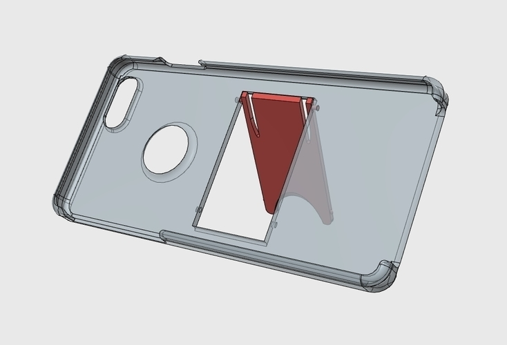 iPhone 6(s) Case with Stand by WING ART 3D Print 136340