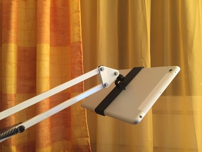 iPad Mini Holder for IKEA Tertial or a Microphone Holder 3D Print 136344