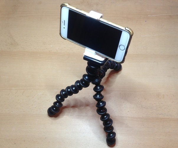 Gorillapod Clamp for iPhone6 WITH Cover 3D Print 136352