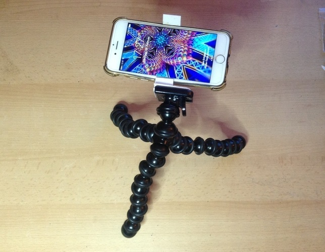 Gorillapod Clamp for iPhone6 WITH Cover 3D Print 136353