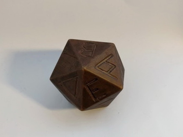 Medium Greek D20 3D Printing 136408