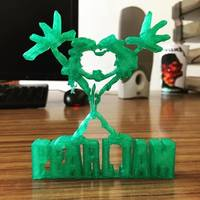 Small Pearl Jam Alive Logo 3D Printing 136411