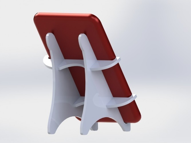 Tablet holder standing 3D Print 136577