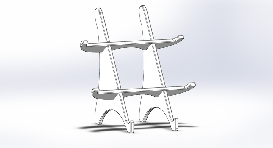Tablet holder standing 3D Print 136582