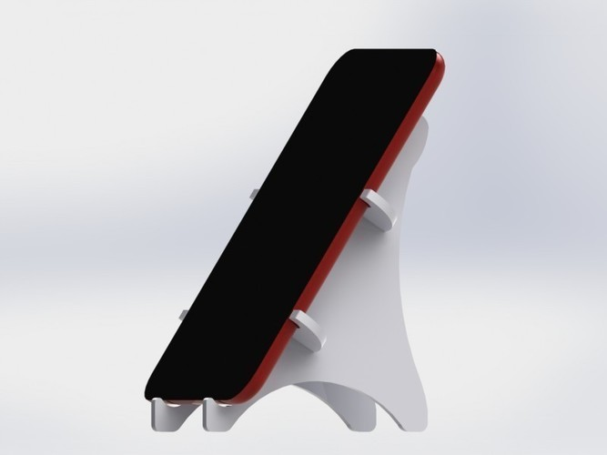 Tablet holder standing 3D Print 136585
