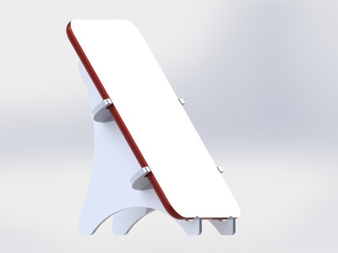 Tablet holder standing 3D Print 136586