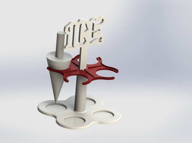 Ice cream roller and holder 3D Print 136653