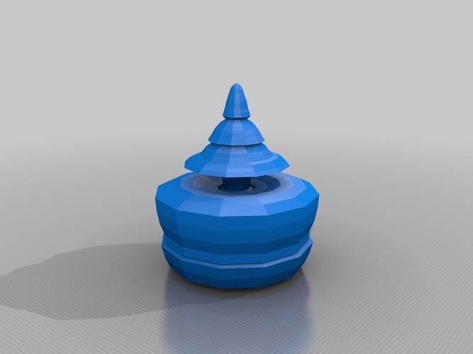 model tree in a pot 3D Print 13669